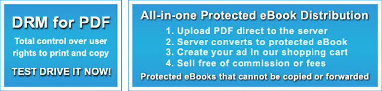 Copy protection sofrware for eBooks, PDF and mail